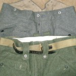 M34 Steingrau and M42 Feldgrau trousers