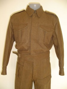 Reproduction battledress. Photo: Richard Knight, Khaki on Campaign
